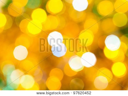 Yellow And Green Flickering Christmas Lights