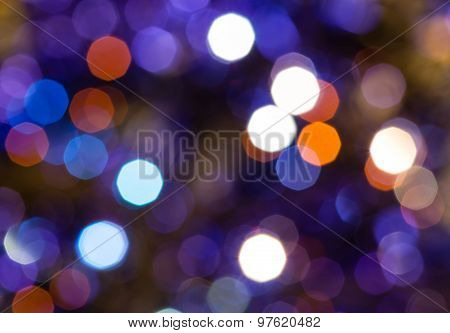 Dark Blue And Violet Flickering Christmas Lights