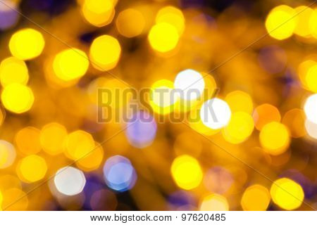 Blue And Yellow Shimmering Christmas Lights