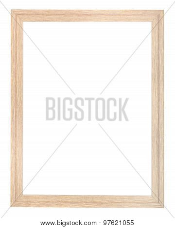 Vertical Wooden Textured Narrow Picture Frame