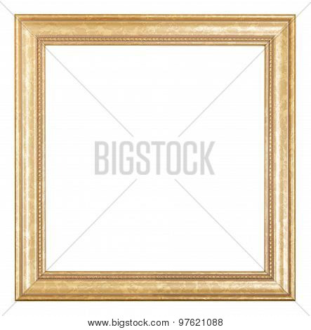 Square Golden Wooden Picture Frame