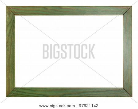 Green Painted Flat Wooden Picture Frame
