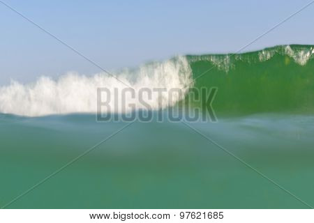 sea wave, motion blur