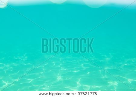 clean turquoise sea, under water view