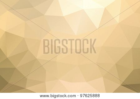 Yellow Gold Abstract Geometric Rumpled Triangular Background Low Poly Style