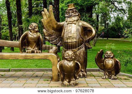 an Interesting sculpture