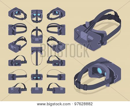 Isometric virtual reality headset