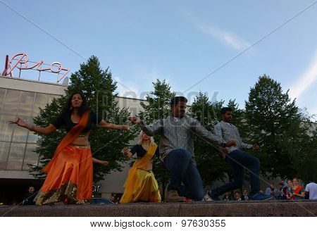 Indian dance and music at the Night of the Arts festival in Helsinki, Finland