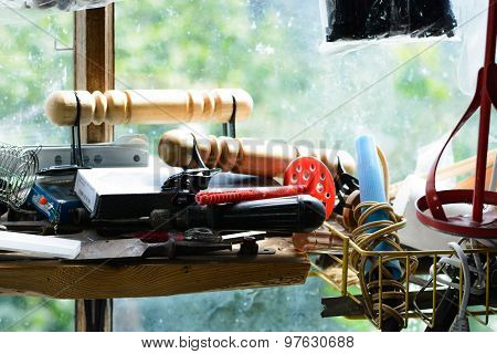 Tools On The Window Sill