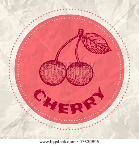 Vintage logo of cherry