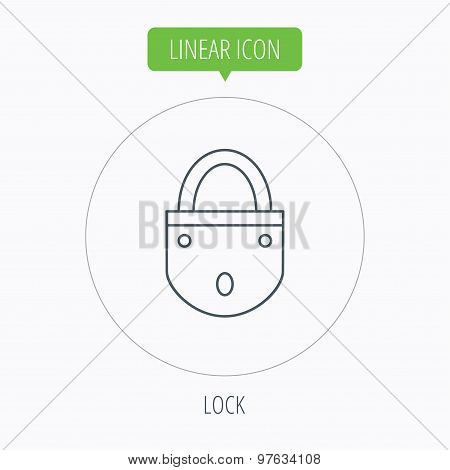 Lock icon. Padlock or protection sign.