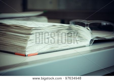 Thick Laboratory Journal With Goggles