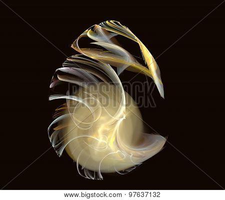 fractal golden egg