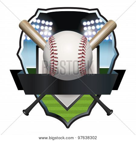 Baseball Badge Illustration