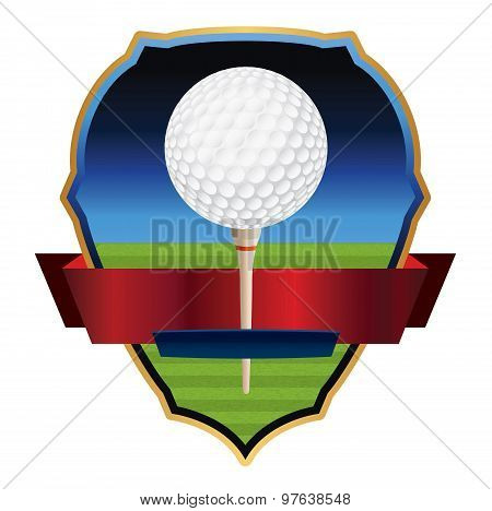 Vector Golf Emblem Illustration
