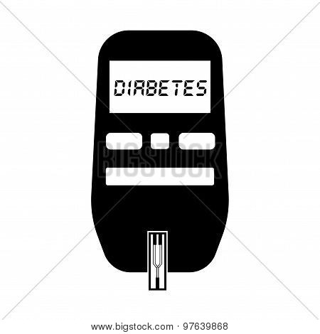 Glucose meter for diabetes test flat icon