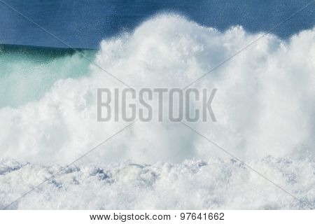 Wave Power Exploding Water