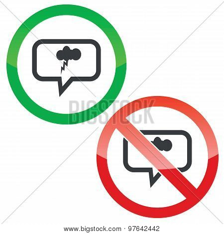 Thunderstorm message permission signs