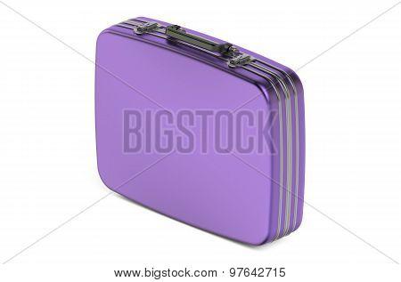 Purple Metallic Suitcase
