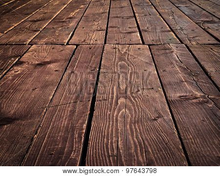 Old Wood Floors With Boards