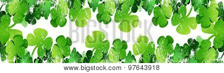 grunge leaf clover on a white background