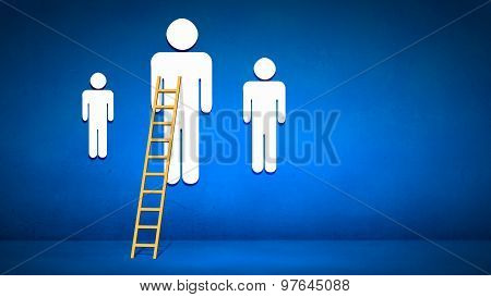 Ladder to top