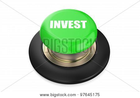 Invest Button Green Push Button