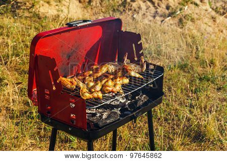 Grilling Chicken Breast With A Charcoal Grill