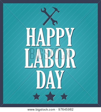 Happy Labor Day, blue background