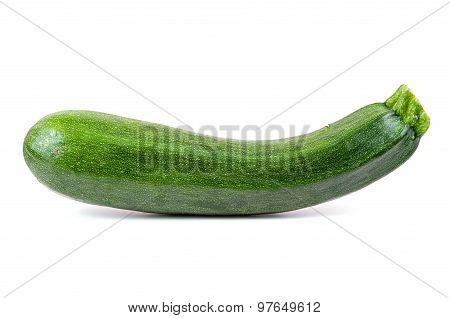 Fresh Courgette On White Background