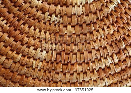detail of a basket. woven texture.