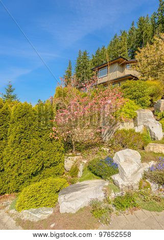 Outdoor landscape in North Vancouver, British Columbia, Canada.