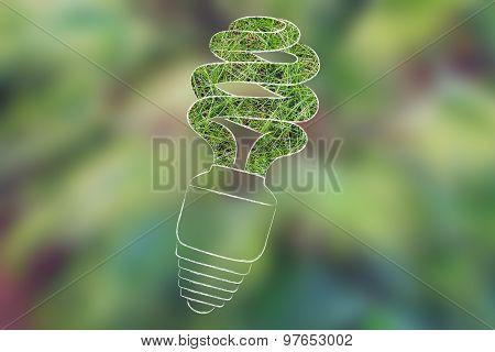 Energy Saving Bulb Made Of Grass