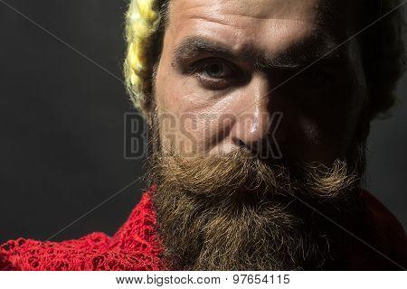 Portrait Of Sullen Homeless Man