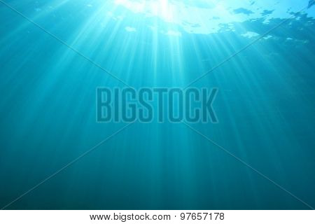Sunlight underwater background