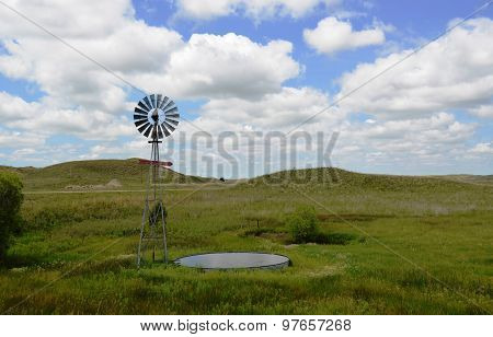 Windmill pumping water