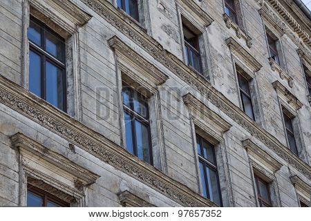 old residential building facade