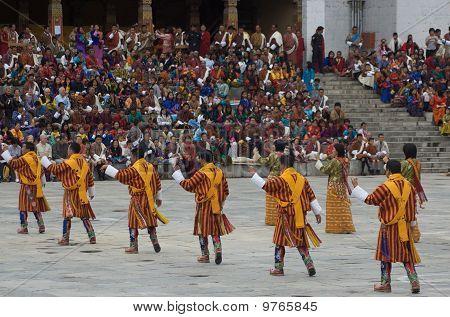 Tsechu Festival Dancers