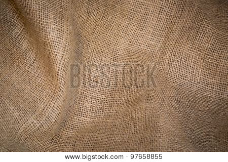 Burlap sack abstract background texture