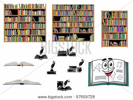Books, education and library objects
