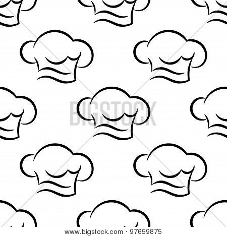 Chef or cook caps seamless outline pattern