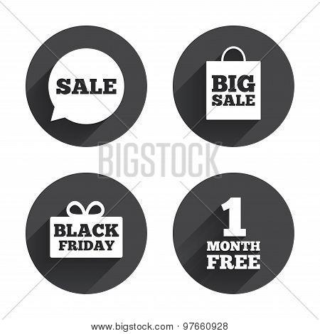 Sale speech bubble icon. Black friday symbol