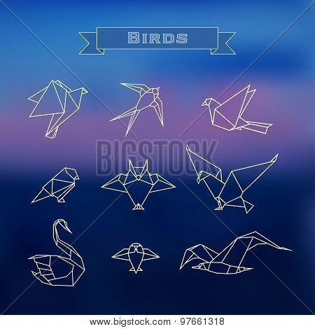 Set polygonal birds
