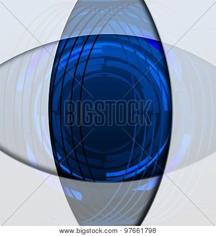 Motion line circle blue background