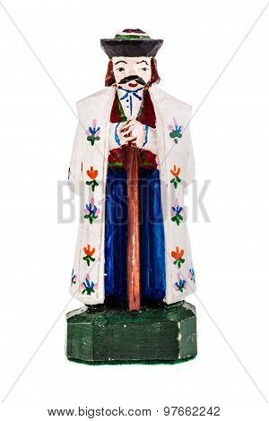 Wooden King Figurine
