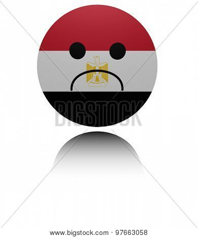 Egypt  sad icon with reflection illustration