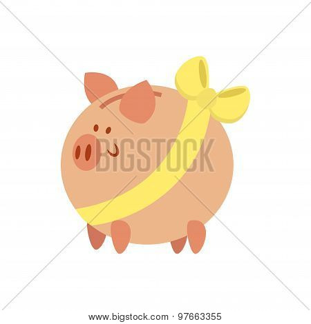 Flat Piggy Bank