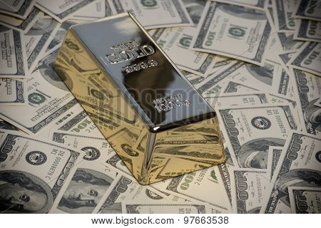 Money,cash,gold bullion