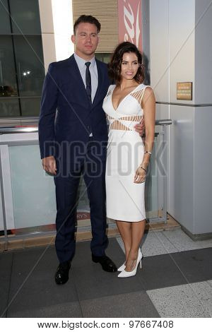 LOS ANGELES - AUG 1:  Channing Tatum, Jenna Dewan-Tatum at the The Dizzy Feet Foundation`s Celebration Of Dance Gala at the Club Nokia on August 1, 2015 in Los Angeles, CA