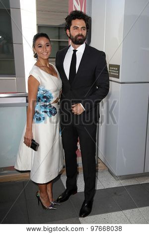 LOS ANGELES - AUG 1:  Emmanuelle Chriqui, Adrian Bellani at the The Dizzy Feet Foundation`s Celebration Of Dance Gala at the Club Nokia on August 1, 2015 in Los Angeles, CA